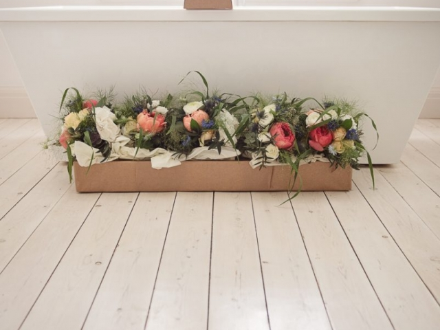 wild unstructured bride and bridesmaids bouquets summer flowers peony