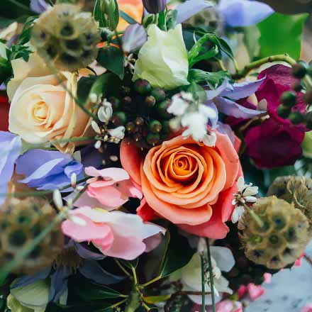 Rustic wedding bouquet bournemouth