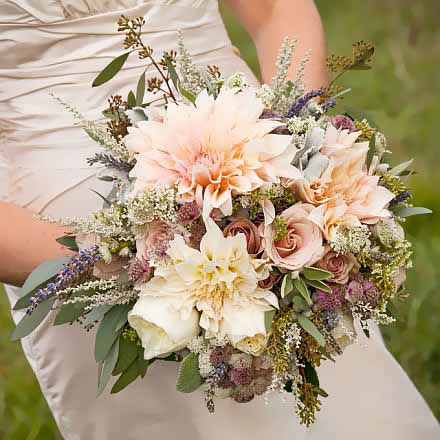 Autumn Dahlia Wedding Bouquet