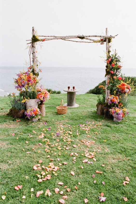 Wedding arch ideas by clair lythgoe wedding florist four junglespirit Image collections