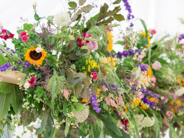 HANGING GARDEN, HANGING FLORAL SWING, SUMMER COUNRTY GARDEN WEDDING FLOWERS, DORSET, HAMPSHIRE