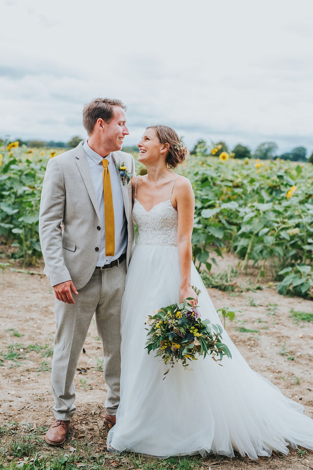 rustic, dried, natural, wild, yellow, dried seed head, bridal bouquet, wedding flowers, dorset, hampshire, sunflowers