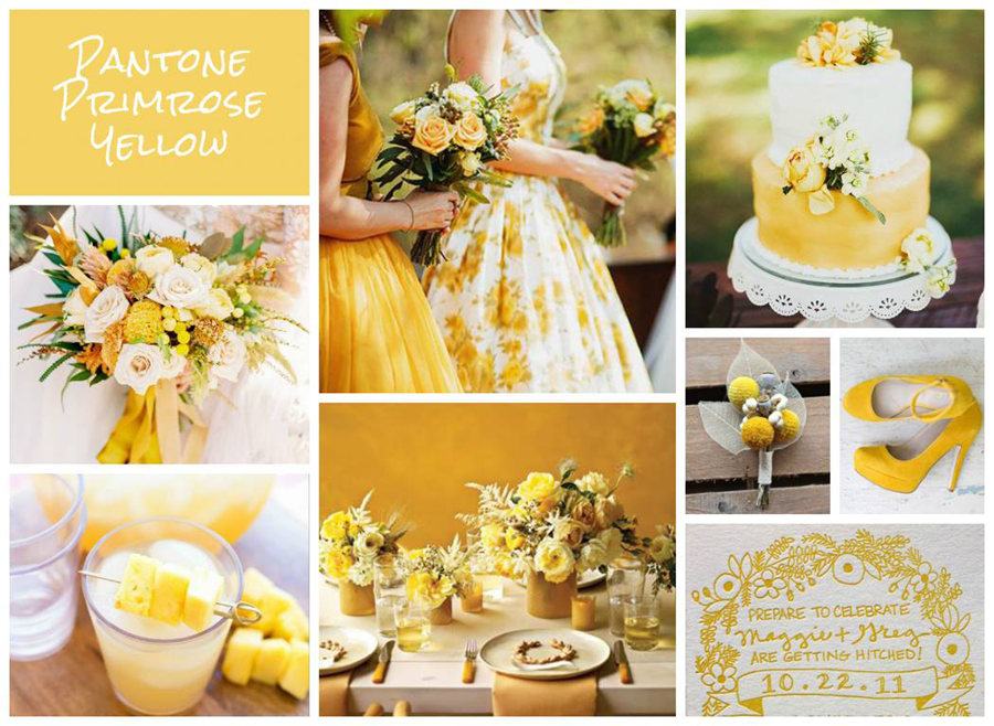 Wedding planning pinterest mood board yellow flowers