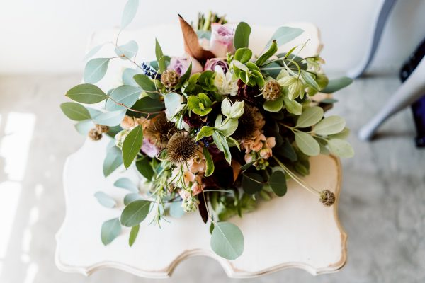 TEXTURED FOLIAGE DRIED SEED HEADS RUSTIC SPRING BRIDAL BOUQUET