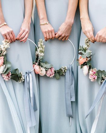 Floral bridesmaids, flower girl hoop, wedding flowers dorset, hampshire