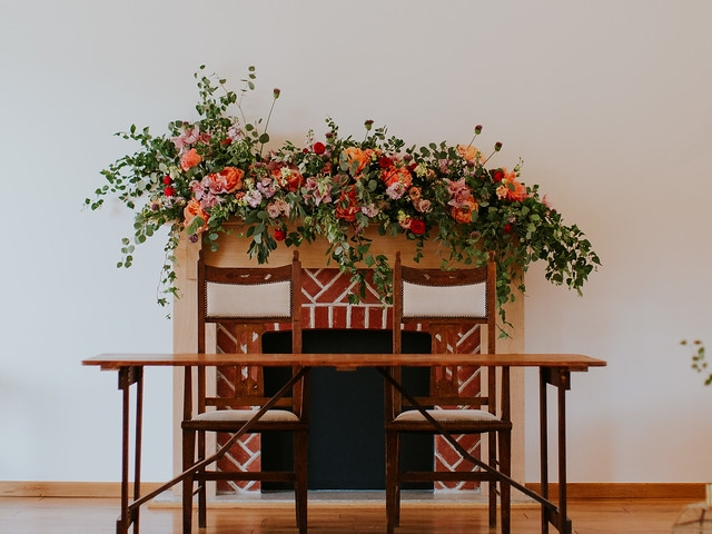 Ceremony styling, ceremony flowers, fireplace wedding flowers, rustic wedding flowers, chair flowers, candle light styling, aisle decor, burley manor, dorset, hamsphire