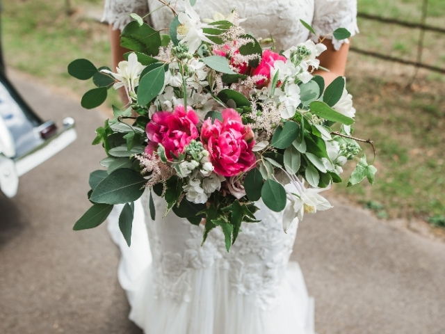Spring flower, garden flower, bridal bouquet, pink and white