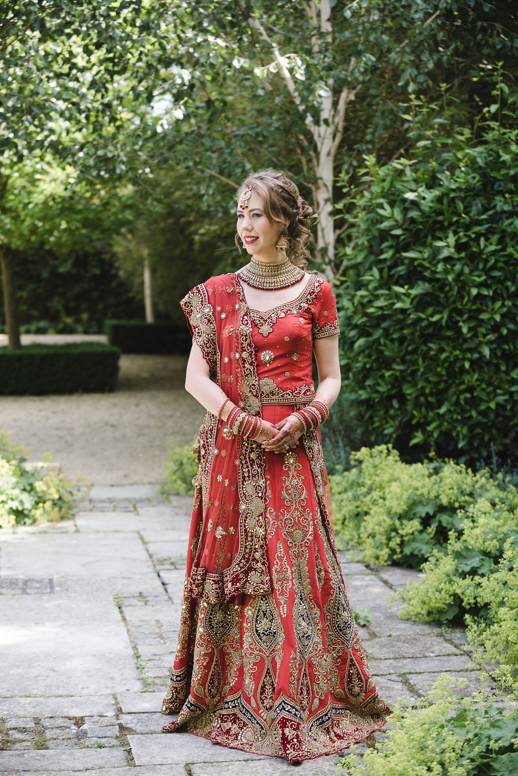 Indian wedding, Indian wedding dress, red wedding dress, bride, henna, axnoller wedding, dorset, hampshire