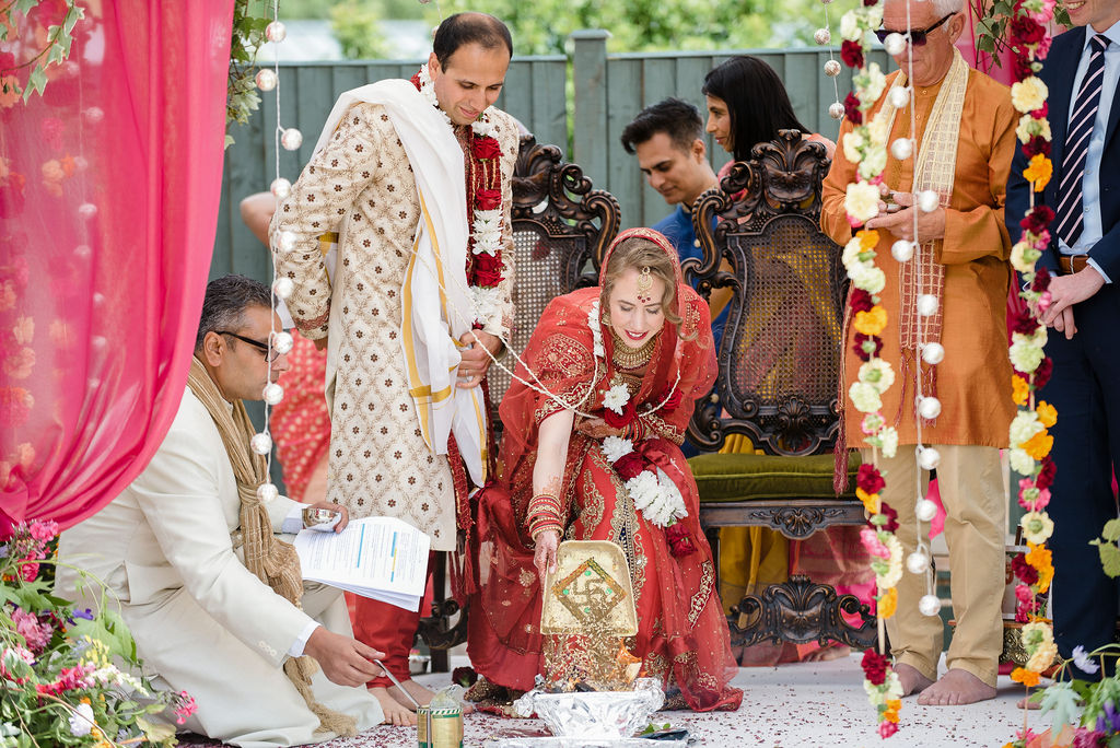 Indian wedding, Hindu ceremony, indian flower garlands, mandap, mandap flowers, mandap wedding flowers, indian wedding flowers, axnoller wedding, dorset, hamsphire