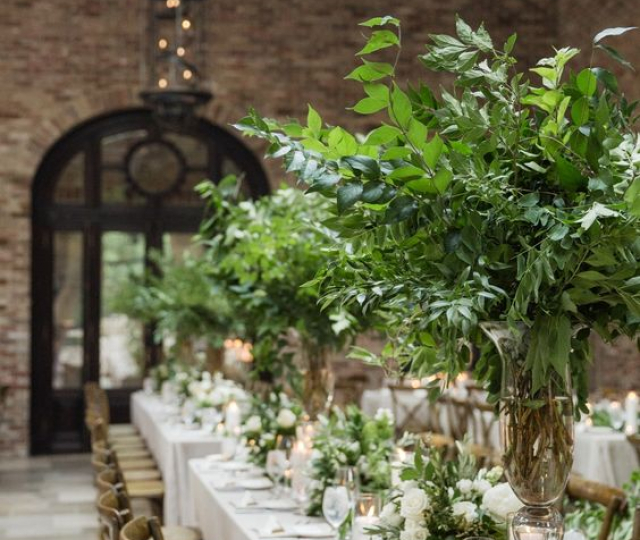 WOW FACTOR FOLIAGE TALL TABLE CENTREPIECE WEDDING DORSET HAMPSHIRE