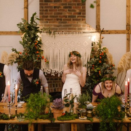 WOODLAND WEDDING INSPIRED TOP TABLE TABLESCAPE