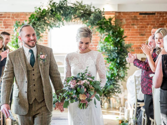 Foliage moongate weding ceremony flowers florist dorset sopley mill