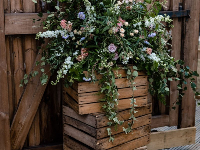 Wild flower bouquet bride bridesmaids wedding day florist foliage dorset barn wedding